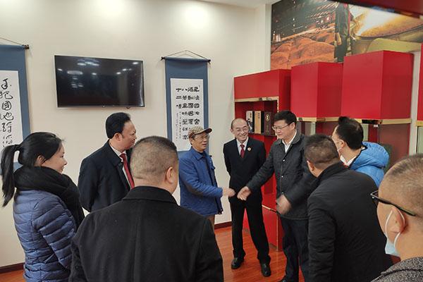热烈欢迎泸州市、区领导莅临本公司指导工作